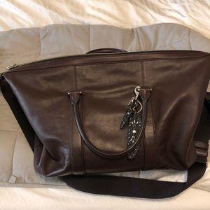 Leather coach duffle bag